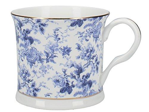CREATIVE TOPS Tasse « May Queen » en Porcelaine de Chine, Bleu/Blanc