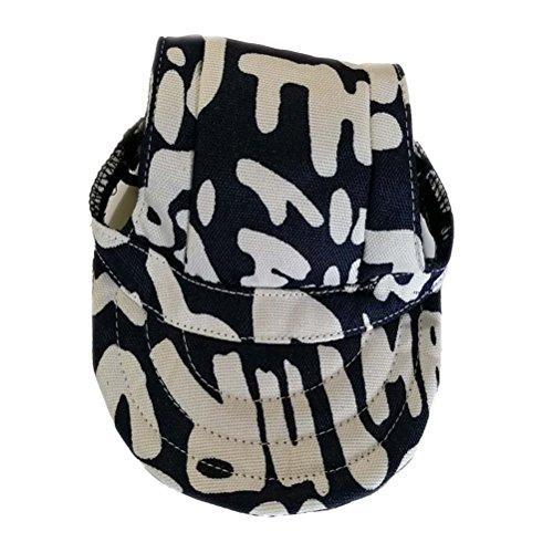 POPETPOP Hund Sport Hut Haustier Canvas Hut Baseball Cap Visier Hut mit Ohrlöcher Größe S (Blaue Buchstaben)