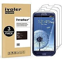 [3 Unidades] Samsung Galaxy S3 y S3 Neo Protector de Pantalla, iVoler Protector de Pantalla de Vidrio Templado Cristal Protector para Samsung Galaxy S3 y S3 Neo -Dureza de Grado 9H, Espesor 0,30 mm, 2.5D Round Edge-[Ultra-trasparente] [Anti-golpe] [Ajuste Perfecto] [No hay Burbujas]- Garantía Incondicional de 18 Meses
