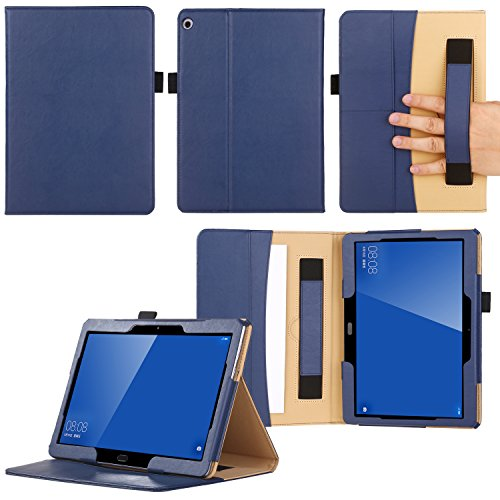 Preisvergleich Produktbild ZhaoCo Huawei Mediapad M3 Lite 10.1 Case - Premium PU Leather Case Stand Cover With Wallet for Huawei MediaPad M3 10.1 Tablet - Blue