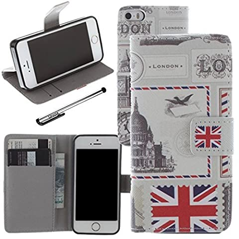 Urvoix For Apple iPhone 5 5S SE, PU Leather Wallet