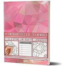 """Mein Zeichenbuch / 136 Seiten, Nummeriert, Inhaltsverzeichnis / Dickes Blanko Buch / PR601 """"Roseev"""" / DIN A4 Soft Cover"""