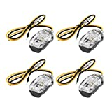 Swiftswan Blinker-Kontrolllampen, 4PCS 6 LEDs 12V Universal-Mini-Motorrad-Motorrad Blinker-Blinker-LED-Anzeigelampe Lampe Superbright