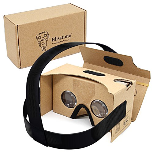Blisstime Google Cardboard V2.0  3-D Glasses VR Virtual Reality Cardboard