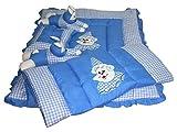 #7: Bachha Rabbit Baby Bedding Set Cartoon Character Embroidery CLOTH - SWISS COTTON, FILLING - SOFT RECRON FIBRE, SKY BLUE