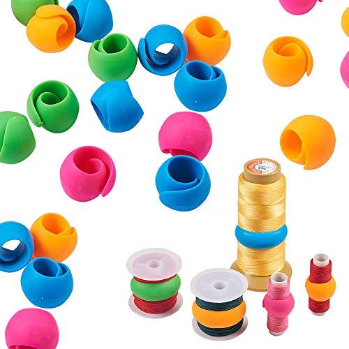 PandaHall Elite & reg Nähfaden Spulenhalter Clips, Silikon, Gemischte Farbe, 90x20mm; 12 Teile/Beutel -