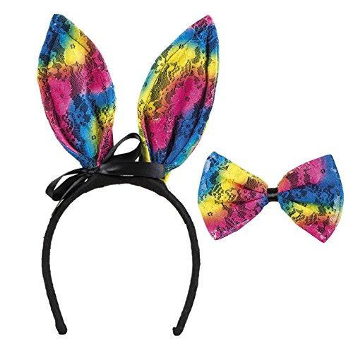 Boland 44728Rainbow Bunny Lace Set One Size