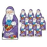 Milka Weihnachtsmanntafel – Zartschmelzende Alpenmilch Schokolade in Weihnachtsmannform – 10 x 85g