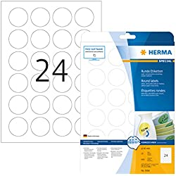Herma 5066 - Pack de 600 etiquetas, diámetro 40 mm, color blanco