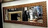 Premierinteriors John Lewis voller Länge Wandspiegel abgeschrägten Antik Gold Mosaik frame132X 53cm