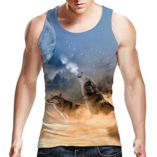 Teen Jungen Printed Wolf T Shirt Coole Grafik Tank Top