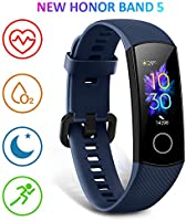 HONOR Band 5 Activity Tracker, Uomo Donna Smartwatch Orologio Fitness Cardiofrequenzimetro da Polso Impermeabile Smart...
