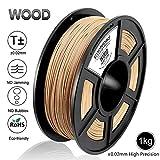 Wood 3D Printer Filament, Maßgenauigkeit +/- 0,02 mm, 1 kg/Spule, 1,75 mm,wood, umweltfreundlich Filament geeignet für 3D-Drucker / 3D-Druckstift (Holz)
