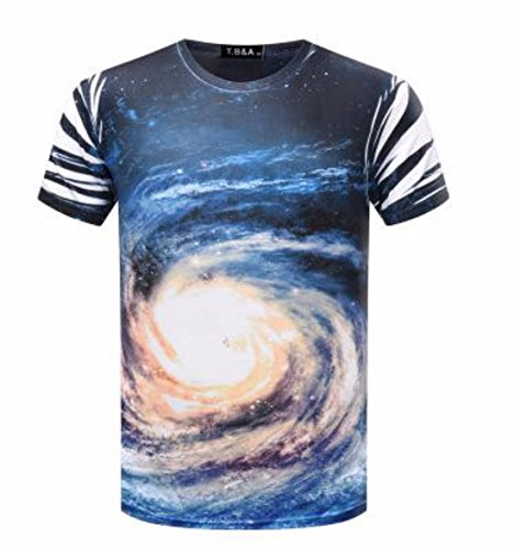 Men's 3D Printed O Neck Short Sleeve Tee Shirt chart color 14