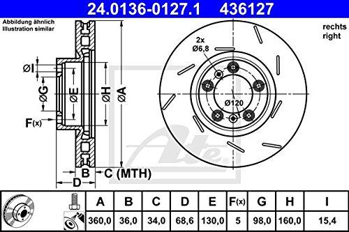 ATE 24013601271 Disque de frein