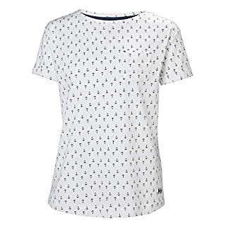 Helly Hansen Damen Naiad T-Shirt, Damen, 33968, White Ancor, Large