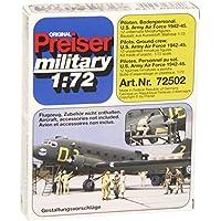 Preiser 1/72 ème - PR72502 - Railway Modelling - US Air Force pilota dal 1942 al 1945 - 12 Figurine