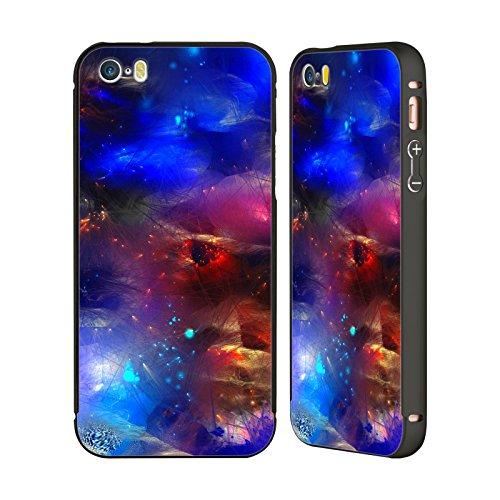 Ufficiale Runa Barriera Corallina 2 Vivido Nero Cover Contorno con Bumper in Alluminio per Apple iPhone 5 / 5s / SE Blu Cosmico