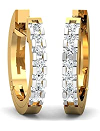 Stylori 18k Gold and Diamond Gyrus Hoop Earrings