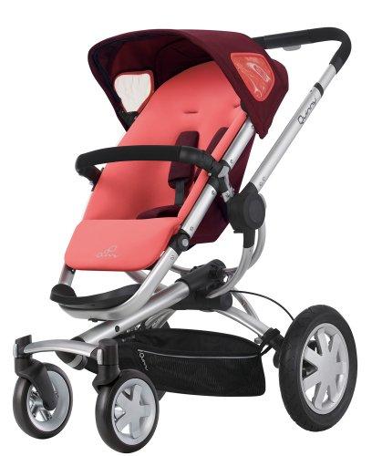 Quinny 60404930 - Buzz 4, praktisches Travelsystem inklusive Einkaufskorb, Sonnenverdeck, Regenverdeck und Adapter für die Babyschale, Pink Emily