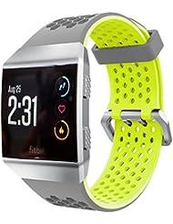 Pour Fitbit Ionic Bracelet de Sport Mixte Adulte, Runtenic quick Release souple en caoutchouc de silicone carré Bracelet de montre Band pour Fitbit ionique montre