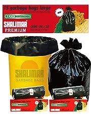 Shalimar Premium Garbage Bags (Large) Size 60 cm x 81 cm 6 Rolls (90 Bags) (Trash Bag/Dustbin Bag)