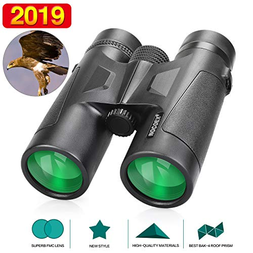 NOCOEX 10x42 BAK4 Dachprismen Fernglas Testsieger, Professionelles Fernglas, Geeignet für Outdoor-Aktivitäten - Schwarz (10x42)