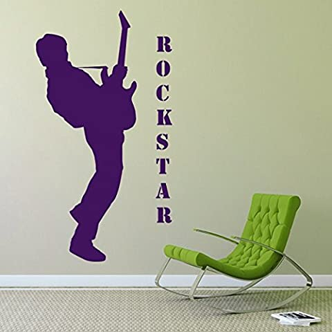 Rockstar - Sticker mural or 100 x 185 cm (Muraux Décoration Murale Stickers Wall Decal Autocollants Salon Chambre d'enfants Nursery Made in Germany)