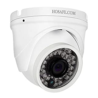 HOSAFE Dome IP-Kamera mit Audio Outdoor 1080P, Home Security Überwachungskamera, 50ft Nachtsicht, Motion Detection Alarm, Unterstützung Windows/Mac / Android/iPhone, Kompatibel mit ONVIF NVR