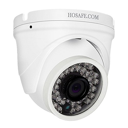 HOSAFE Dome IP-Kamera mit Audio Outdoor 1080P, Home Security Überwachungskamera, 50ft Nachtsicht, Motion Detection Alarm, Unterstützung Windows/Mac/Android/iPhone, Kompatibel mit ONVIF NVR
