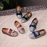 Zhongsufei Weichen Boden Kinder Prinzessin Schuhe Koreanische Pailletten Flacher Mund Kinderschuhe Hochzeit Formale Schuhe (Farbe : Schwarz, Größe : 38 EU)