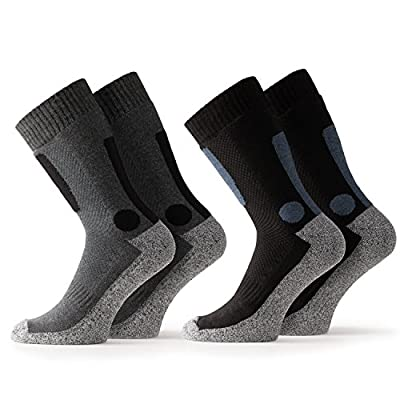 Occulto 2 Paar Herren Trekking Socken   Wandersocken   Outdoorsocken   Funktionssocken mit gepolsterter Sohle in verschiedenen Farben und Größen von Occulto bei Outdoor Shop