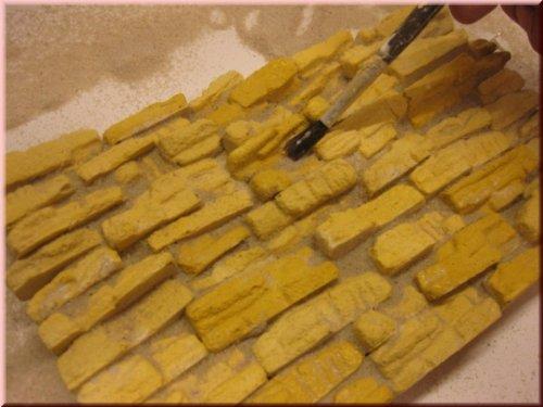Wüstenfelsen Bausteine Ocker, 2 Tüten je 25 Bausteine