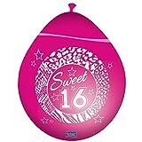 Folat Luftballons Sweet Sixteen 8er Pack