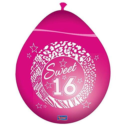 (Folat Luftballons Sweet Sixteen 8er Pack)