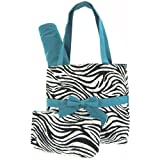 Quilted Zebra Print Diaper Bag Tote Purs...