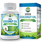 Virgin Coconut Oil Capsules, Powerful MCT Oil Benefits, Essential Fatty Acids for Natural Weight Loss, 1000mg, You Get Twice the Capsules with our 180 Compter