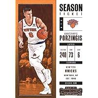 2017–18Dépasse Panini Season Ticket # 14Kristaps Porzingis New York Knicks Basketball carte
