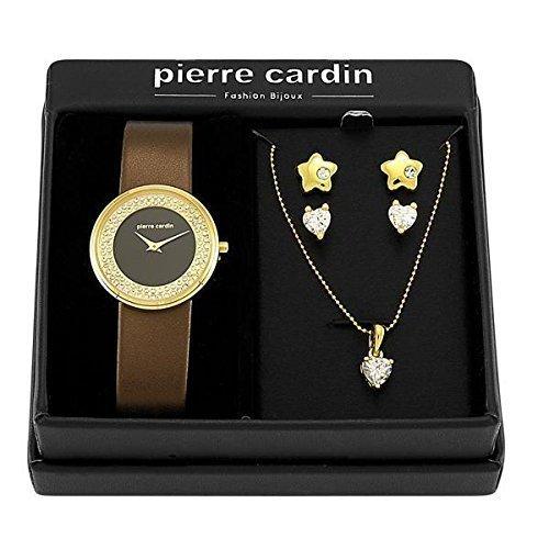 pierre-cardin-damen-armbanduhr-sets-braun-pjw1011