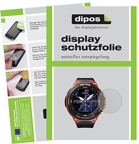 dipos I 6X Schutzfolie matt passend für Casio WSD-F20 Folie Bildschirmschutzfolie