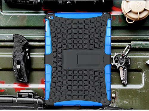 Cocomii iPad Mini 4Fall, Liquid Armor Neue [, die] Premium HD Clear Anti-Yellow Kratzfest stoßfest Hardcase Schale Bumper [Slim Fit] Full Body Ultra Dünn Leicht Transparentes Cover, Blau - Liquid Fall
