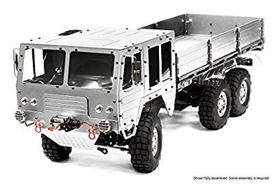 Integy RC Model Hop-ups C25853SILVER Billet Machined 6X6 7T GL High-Mobility Off-Road Truck 1/10 Size ARTR