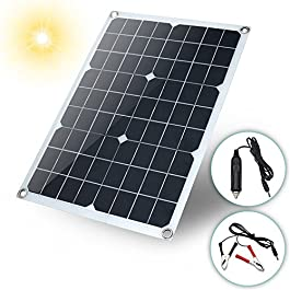 Solar Panel,Solar Powerd Charger 20W Waterproof Battery Solar Panel USB for Phone Lighting Car Charger Camping Travel