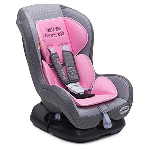 Kindersitz Babysafe Gruppe 0/1 (0 - 18 kg), vierfach verstellbare Rückenlehne rosa