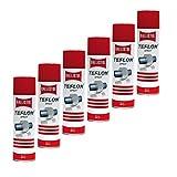 Teflon® Spray, 6 Dosen a 400 ml Trockenschmierung PTFE Teflonspray 25607