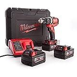 Milwaukee 4933459364 Ak M18BLPD-503C Perceuse-visseuse sans fil 3x 18V/5 Li-Ion