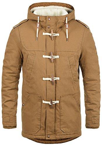 !Solid Forster Veste d'hiver avec Peau De Mouton Blouson D'Extérieur pour Homme À Capuche 100% Coton, Taille:XL, Couleur:Cinnamon (5056)