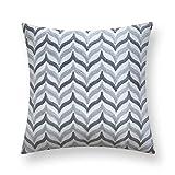 ALIKER Nordischen Stil einfache geometrische Wind Kissen 18 * 18 Zoll Platz Sofa Schlafzimmer Wohnzimmer Kissenbezug Kissen lenden (Farbe : 03, größe : 45 * 45cm)