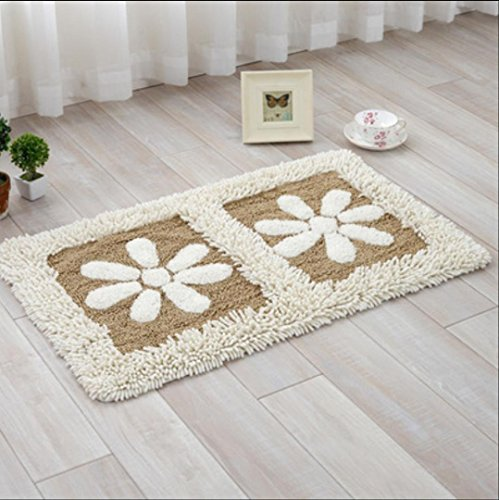 LILILI Chenille Eintrag Matratze Haushalt Tür Pad Osmanischen Wohnzimmer Küche Badezimmer Badezimmer Rutschfeste Verdickung Saugkissen, 10, 50 * 80 cm (Matratze Osmanische)