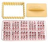 Zenker 44827Moldes para Galletas con Letras, plástico